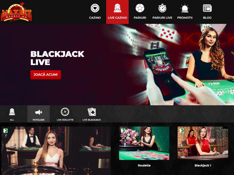 MaxBet. Cazino online, oferta pariuri și păreri