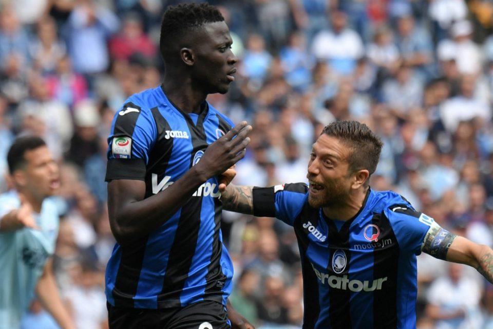 Jucători ai echipei Atalanta se bucură pentru un gol, Italia, Serie A