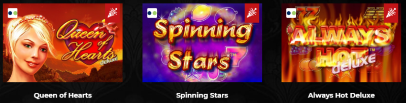 Queen of Hearts, Spinning Stars și Always Hot Deluxe la MaxBet