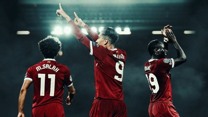 Mohamed Salah, Sadio Mane și Roberto Firmino, Liverpool, Premier League