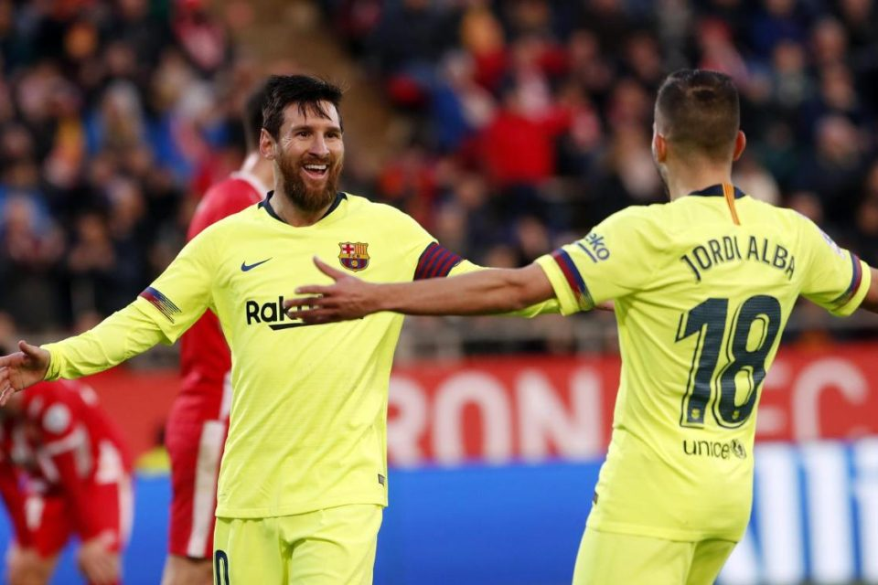 Lionel Messi, Jordi Alba, jucători la FC Barcelona, în La Liga