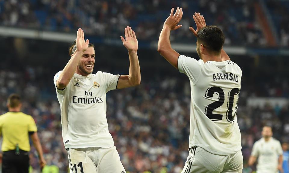 Bale si Asensio, jucatorii echipei Real Madrid, La Liga, Spania
