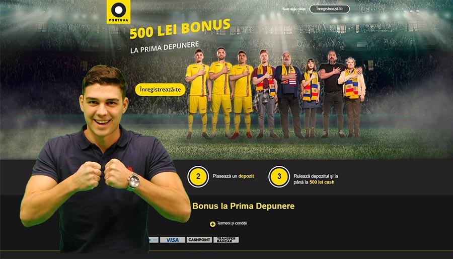 Bonus de bun venit Fortuna 2019