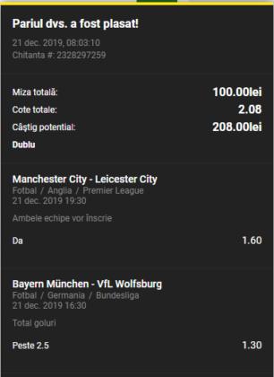 Bilet goluri 21.12.2019