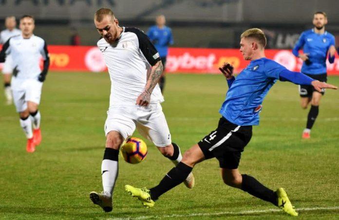 Duel din timpul meciului Viitorul - Astra, Liga I, Romania