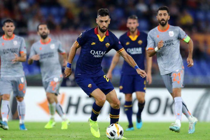 Secventa din timpul meciului AS Roma - Istanbul BB, UEFA Europa League