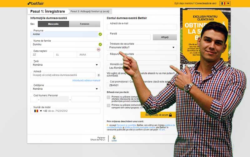 Cum îți deschizi un cont la Betfair în 2020 (mobil și desktop)