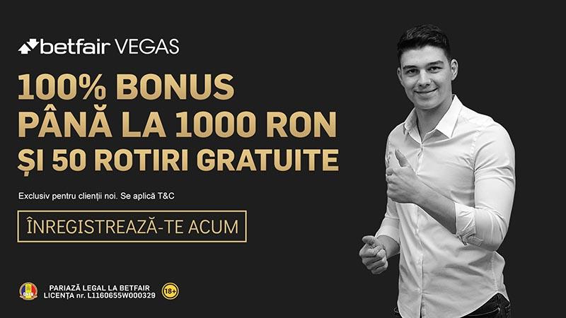 Cum iei 1.000 RON + 50 rotiri gratuite la Betfair Casino. Cod promoțional