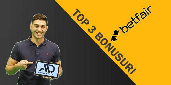 Top 3 bonusuri de bun venit oferite de Betfair noilor clienți 500