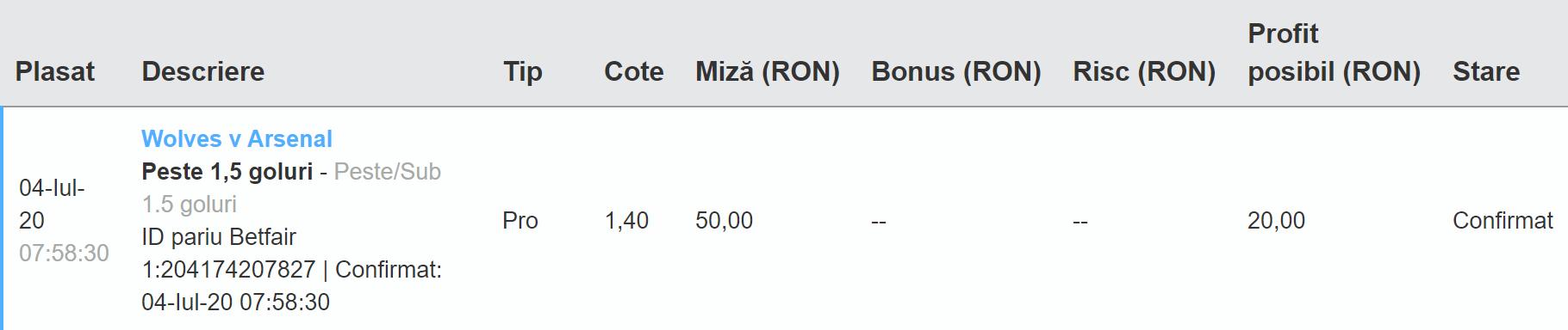 Bilet Exchange 04.07.2020