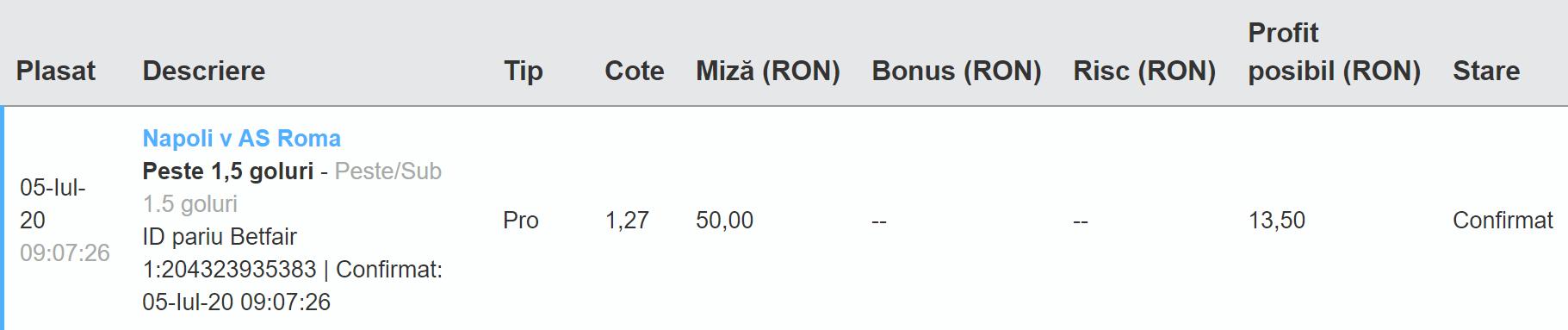 Bilet Exchange 05.07.2020