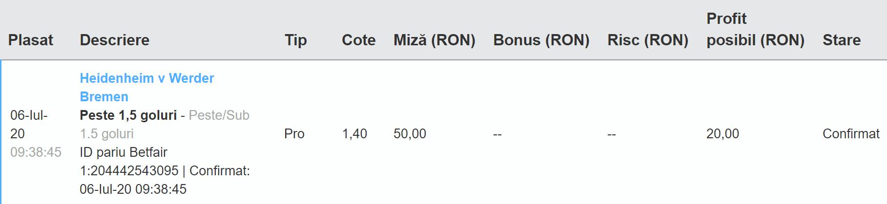 Bilet Exchange 06.07.2020