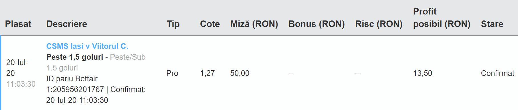 Bilet Exchange 20.07.2020