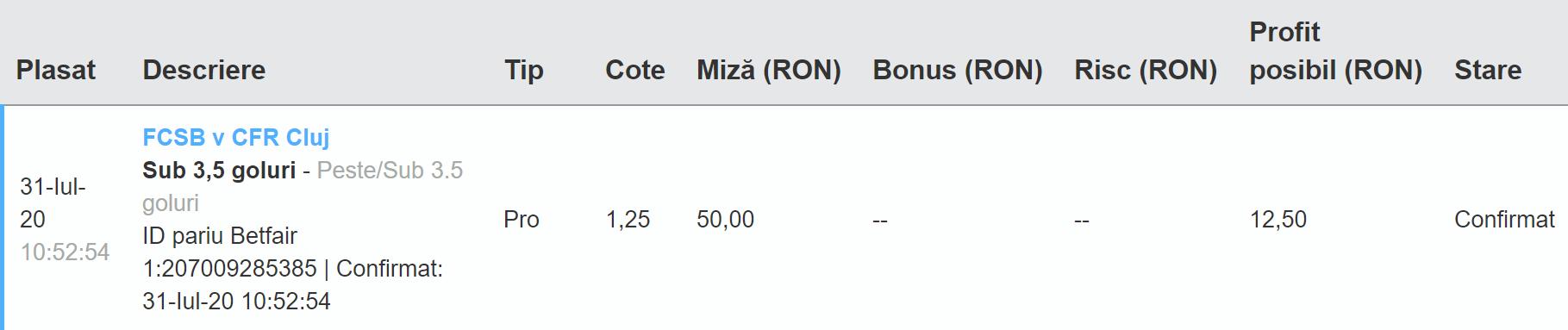 Bilet Exchange 31.07.2020