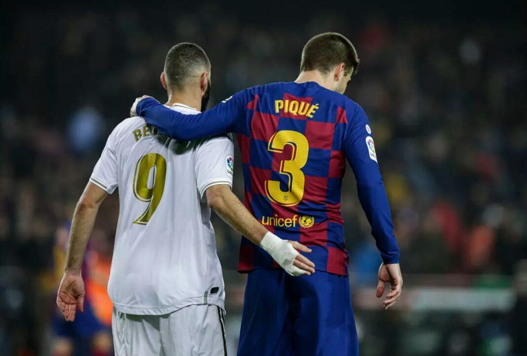 Karim Benzema si Gerard Pique, Real Madrid, FC Barcelona, La Liga