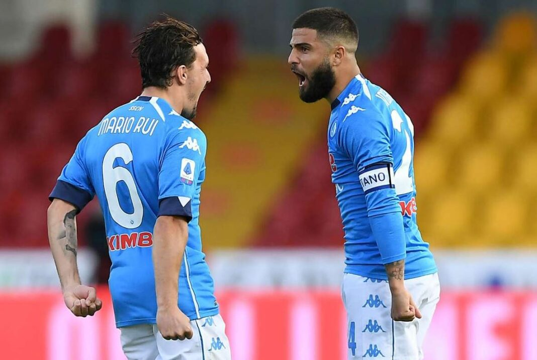 Mario Rui si Lorenzo Insigne, Napoli, Serie A